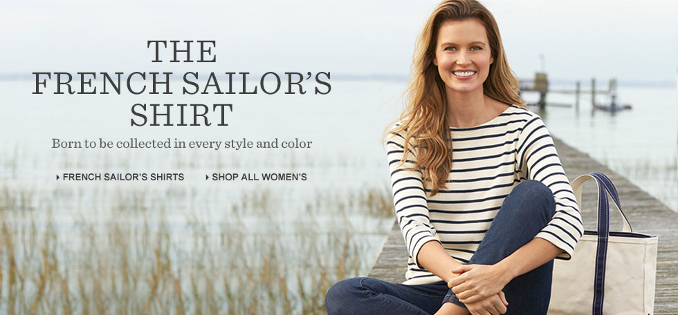 The French Sailor's Shirt. Born to be collected in every style and color.