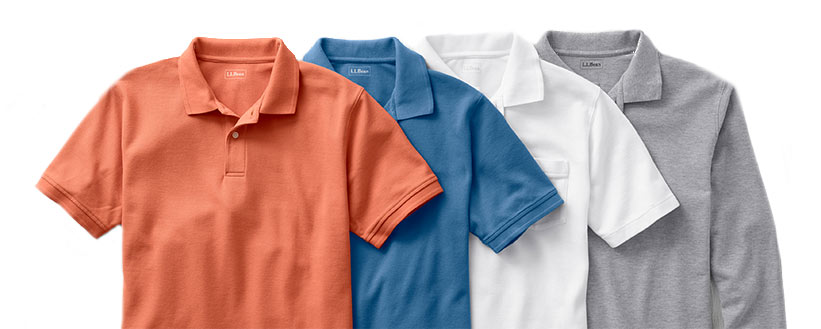 Shop Men's Premium Double L Polo Shirts at L.L.Bean. Guaranteed to resist shrinking, pilling, fading and wrinkling.