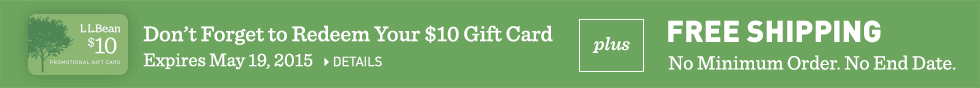 Free $10 gift card with purchase of $50 or more plus free shipping.