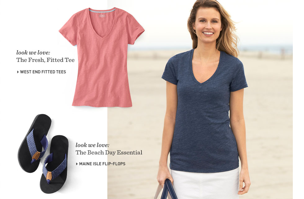 Fresh tees in fun colors at L.L.Bean.