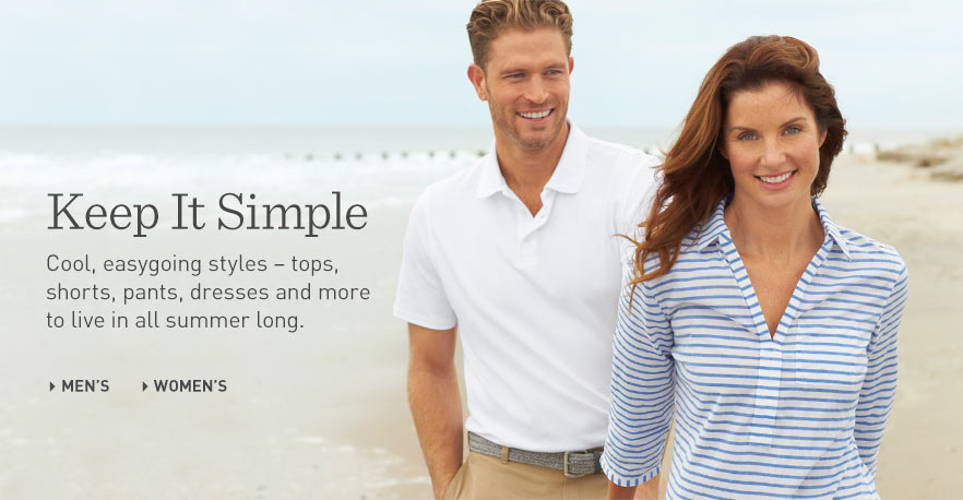 Keep it simple with cool, easygoing Men's summer apparel at L.L.Bean. Keep it simple with cool, easygoing Women's summer apparel at L.L.Bean. Shop Men's Polo Shirts at L.L.Bean. Shop the Women's Seaside Popover at L.L.Bean.