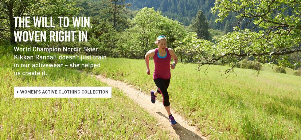 World Champion Nordic Skier Kikkan Randall doesn't just train in L.L.Bean Women's activewear – she helped us create it.