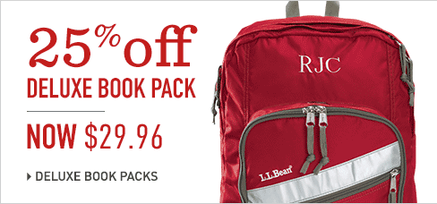 Get 25% off Deluxe Backpacks at L.L.Bean