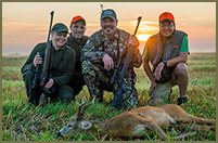 Bill Gorman is all smiles after a successful hunt in Austria for Roe deer with his good friends from Merkel.