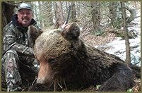 Bill traveled to Romania in search of this magnificent brown bear.