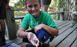 A camper enjoys one of a wide variety of programs for kids 7-17.