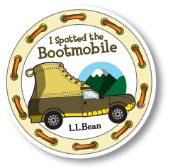 I spotted the Bootmobile. L.L.Bean.