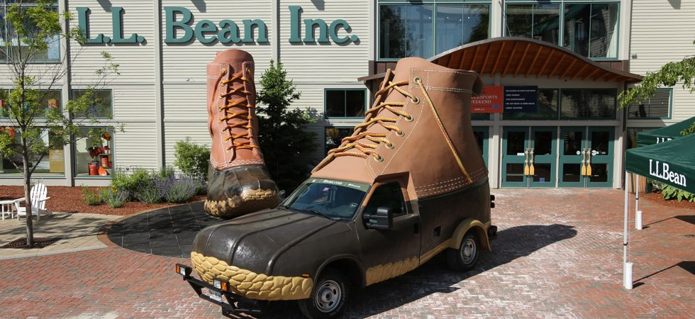 c4821f346eba4 The original Bean Boots were designed to help people enjoy the outdoors —  and so were our larger-than-life mobile replicas. Our two Bootmobiles have  covered ...