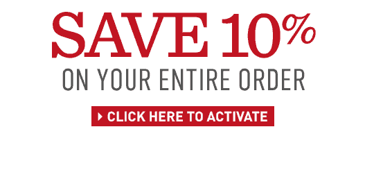 Save 10% on your entire order. Offer ends Tuesday, December 2 – enter promo code THANKS10.
