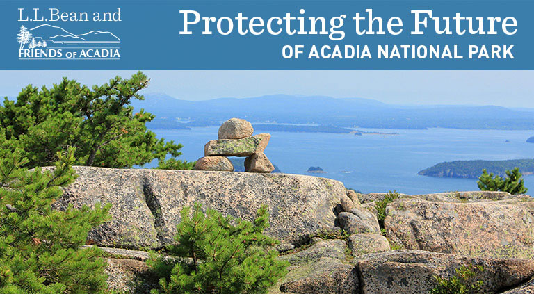 L.L.Bean and Friends of Acadia. Protecting the future of Acadia National Park. A beautiful view from the park loop road.