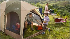 Family camping is easy with camping  gear from L.L.Bean