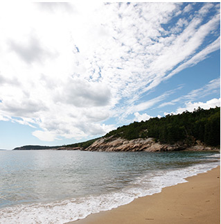 SPECIAL WAYS TO EXPERIENCE ACADIA. Enjoy a peaceful early morning bird walk through the Wild Gardens of Acadia. Plan a picnic breakfast on the gorgeous 290-yard-long Sand Beach. Take a sunset sea kayak tour of Frenchman's Bay for its breathtaking 360-degree views. Watch the moon rise or count shooting stars over Cadillac Mountain.
