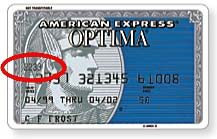 the four digit card verification number is printed on the front of the card usually just above the account number