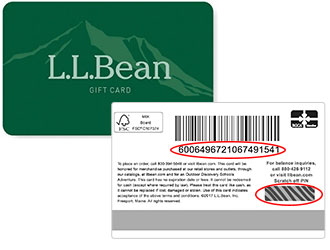 An L.L.Bean Gift card