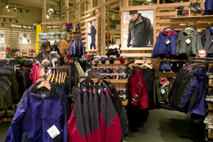 Inside the L.L.Bean store