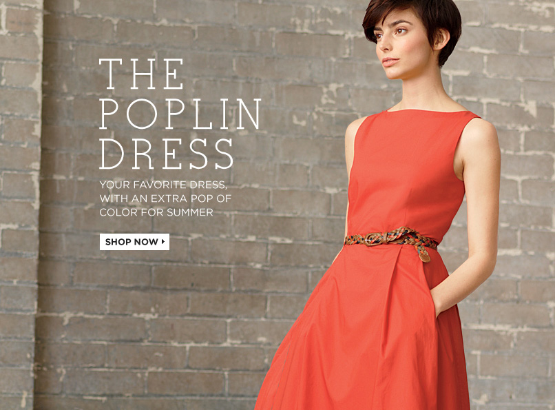 POPLIN DRESS. Your favorite dress, with an extra pop of color for summer